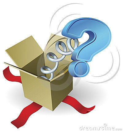 Free Jack In The Box Question Mark Concept Stock Photography - 18851952