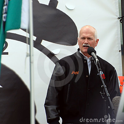 Jack Layton at Forestry Rally Editorial Photo