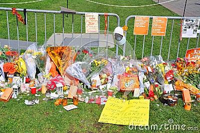 Jack Layton Memorial in Parliament Hill, Ottawa Editorial Image
