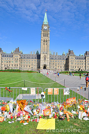 Jack Layton Memorial in Parliament Hill, Ottawa Editorial Stock Photo