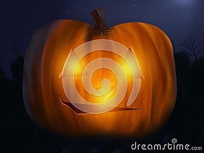 Jack O  Lantern - Digital Painting