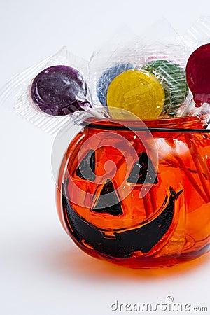 Jack-o-lantern with lollipops