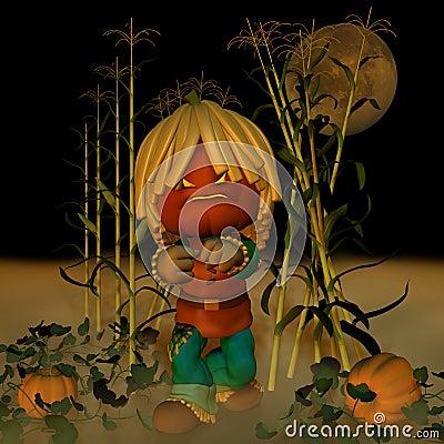 Jack O  Lantern Scarecrow 1