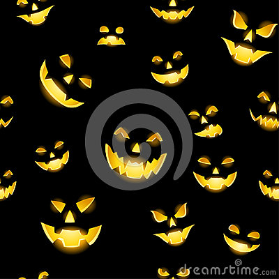 Jack-o-lantern seamless
