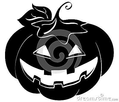 Jack-o-lantern silhouette
