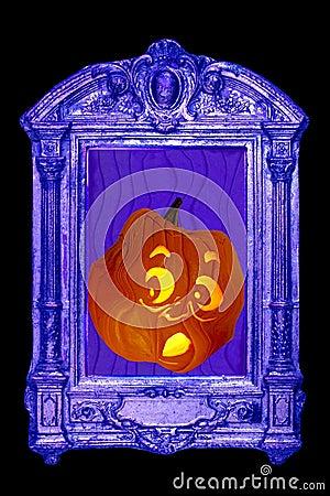 Jack o lantern takes fright