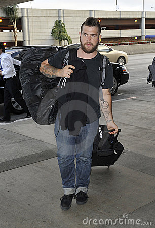 Jack Osbourne is seen at LAX Editorial Stock Image