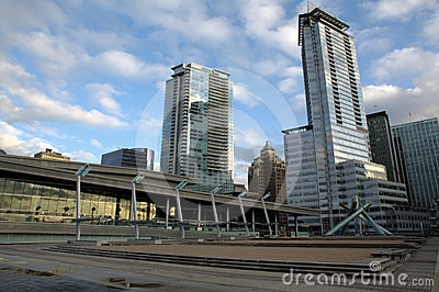 Jack Poole Plaza, Vancouver, BC Editorial Stock Image
