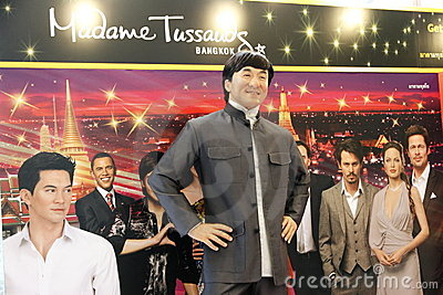 Jackie Chan at Madame Tussauds in Bangkok Editorial Photo