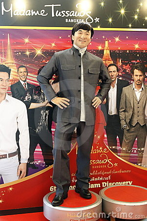 Jackie Chan at Madame Tussauds in Bangkok Editorial Stock Image