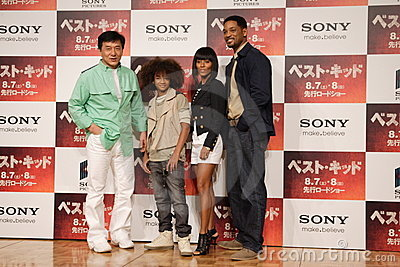 Jackie Chan and Will Smith Family Editorial Stock Image