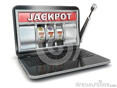 Jackpot.  Laptop slot machine.