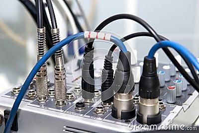 Jacks of audio/video mixer