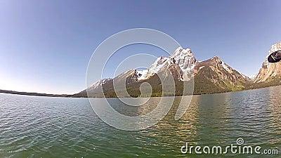 Jackson Lake och Tetons berg lager videofilmer