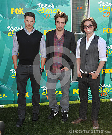 Jackson Rathbone,Kellan Lutz,Robert Pattinson,Jacksons Editorial Stock Photo