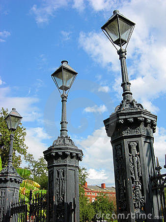 Jackson Square Lamp Posts