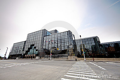 Jacob K. Javits Convention Center in New York Editorial Stock Photo