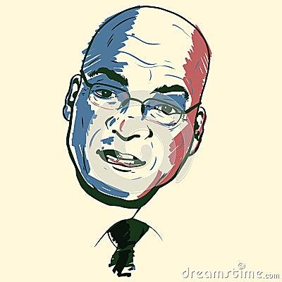Jacob Zuma portrait Editorial Image