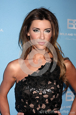Jacqueline MacInnes Wood arrives at the Bold and Beautiful 25th Anniversary Party Editorial Photo