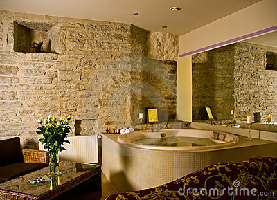 Jacuzzi inside a hotel room