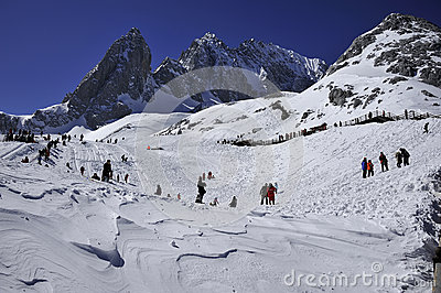 The Jade Dragon snow mountain Editorial Image