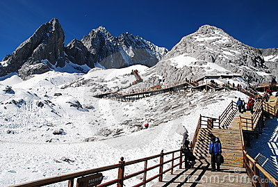 Jade dragon snow mountain, Lijiang China