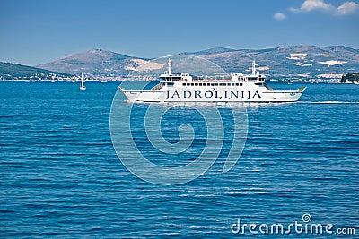 Jadrolinija ferry ship Editorial Image