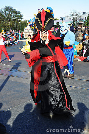 Jafar in A Dream Come True Celebrate Parade Editorial Stock Image