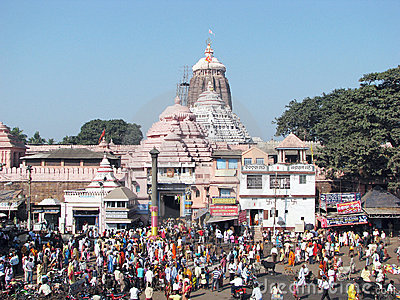 The Jagannath Temple in Puri Editorial Stock Photo