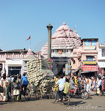 The Jagannath Temple in Puri Editorial Stock Image