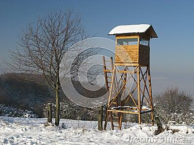 Jagd des Kontrollturms der ruhigen Jagd