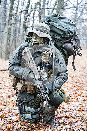 Free Jagdkommando Soldier Stock Photography - 49479592