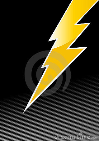 Free Jagged Lightening Symbol Royalty Free Stock Photo - 9001155