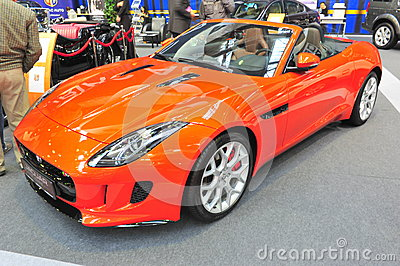Jaguar convertible car - Bucharest Auto Saloon 2014 Editorial Image