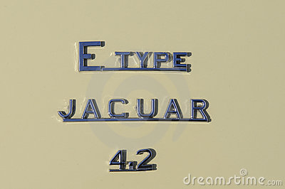 Jaguar E type 4.2 Editorial Stock Photo