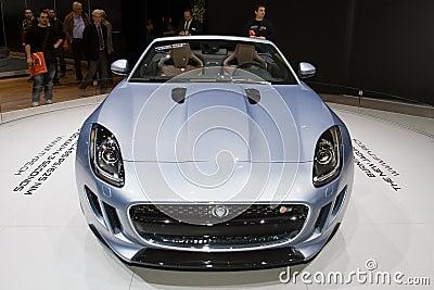 Jaguar F-Type Cabriolet - Geneva Motor Show 2013 Editorial Stock Image