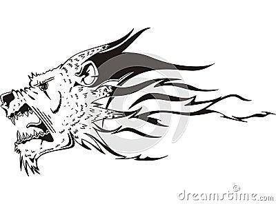 Jaguar Head Flame Cartoon Vector Cartoondealer Com 70708771