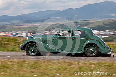 Jaguar MK IV in the nature Editorial Image
