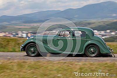 Jaguar MK IV in the nature Editorial Image