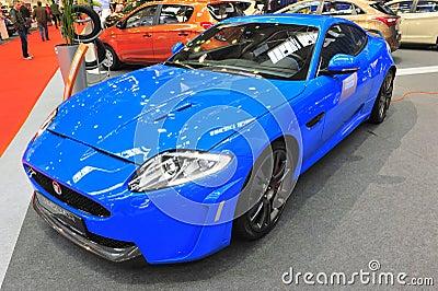 Jaguar sports car - Bucharest Auto Saloon 2014 Editorial Stock Photo