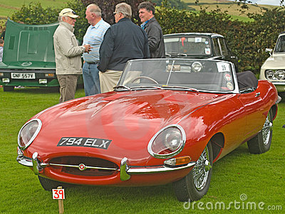 Jaguar Sports car at Fortrose.. Editorial Image