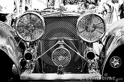 The Jaguar SS 100 Roadster (Black and White) Editorial Stock Image
