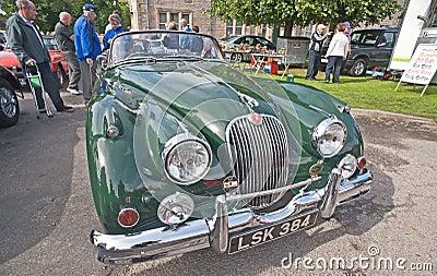 Jaguar XK 140 at Motormania Editorial Image