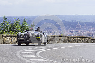 Jaguar XK 120 OTS driven by Hoy Chris and Wallace Editorial Image