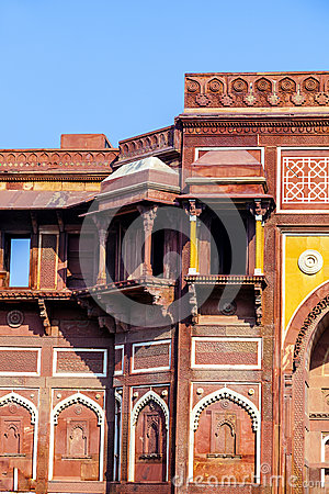 Free Jahangiri Mahal In Agra Red Fort Stock Photography - 27984312