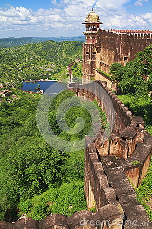Free Jaigarh Famous Fort Wall Royalty Free Stock Photo - 29776845