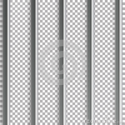Free Jail Bars Vector Illustration. Isolated On Transparent Background. 3D Iron Or Steel Prison House Grid Illustration Stock Image - 95517331