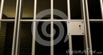 Jail Cell Door Locked Front