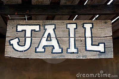 Jail Sign Stock Image Image 3836731