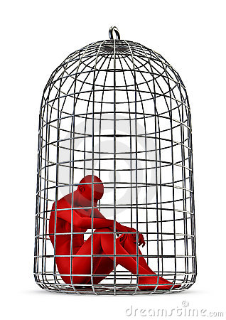 3d Man Trapped Cage Stock Photos, Images, & Pictures - 30 Images